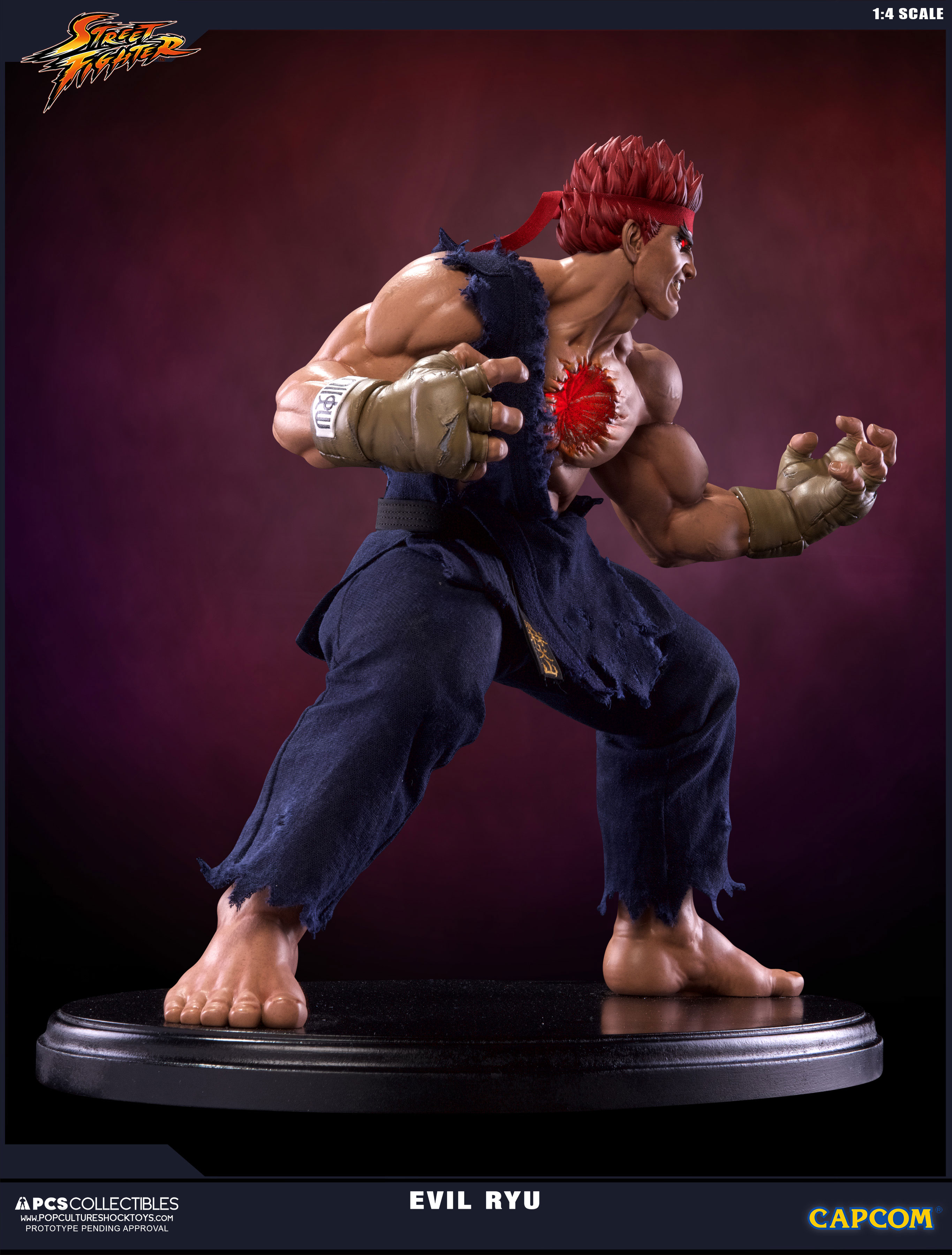 Street Fighter Iv Statue 1 4 Evil Ryu 42 Cm Animegami Store Tsume Art Chunli