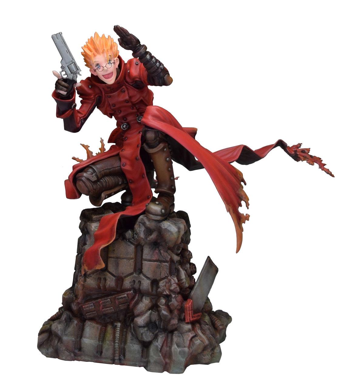 Trigun Badlands Rumble Statue 1/6 Vash The Stampede Holdup Ver. 23 cm - Animegami Store