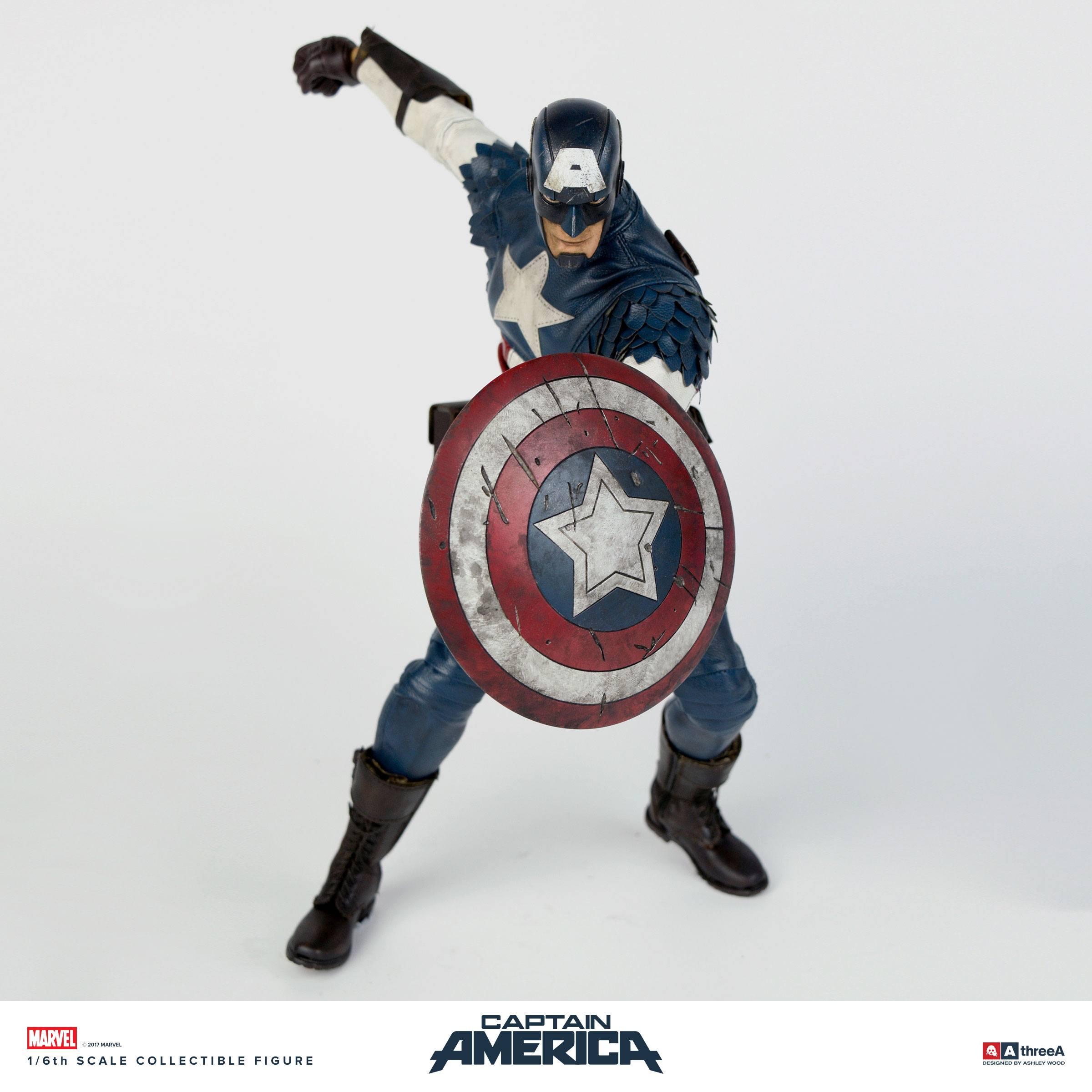 marvel x threea action figure 1 6 captain america by ashley wood 32