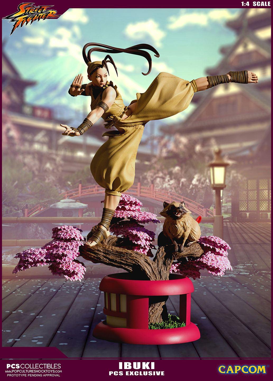 street fighter ultra statue 1 4 ibuki pcs exclusive 66 cm