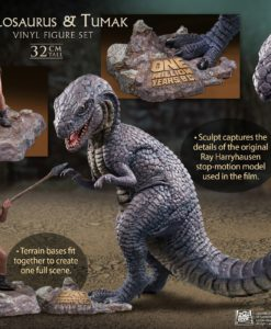 One Million Years B.C. Soft Vinyl Statues Allosaurus & Tumak