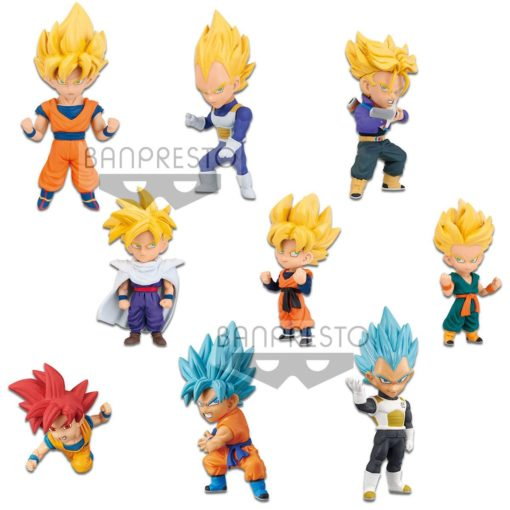 Dragon Ball Super Movie WCF ChiBi Figures 7 cm Assortment Saiyan Special (12)