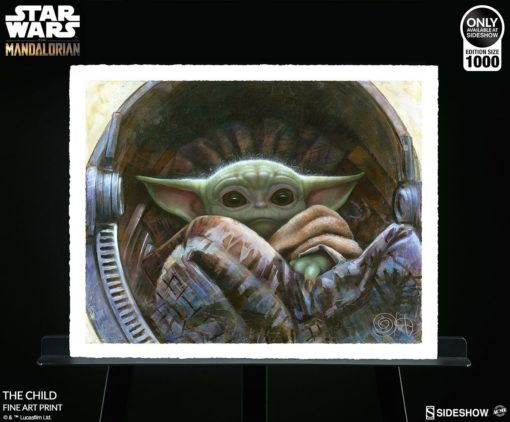 Star Wars The Mandalorian Art Print The Child 51 x 41 cm – unframed
