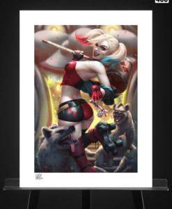 DC Comics Art Print Harley Quinn: Hell on Wheels! 46 x 61 cm - unframed