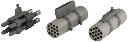 Heavy Weapon Unit MSG Plastic Model Kit Missile & Rocket Pod 6 cm