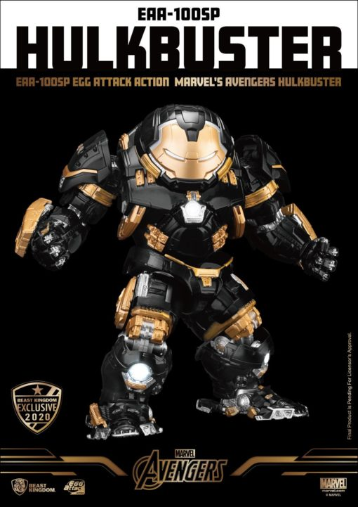 Avengers Age of Ultron Egg Attack Action Figure Hulkbuster Beast Kingdom Exclusive 21 cm
