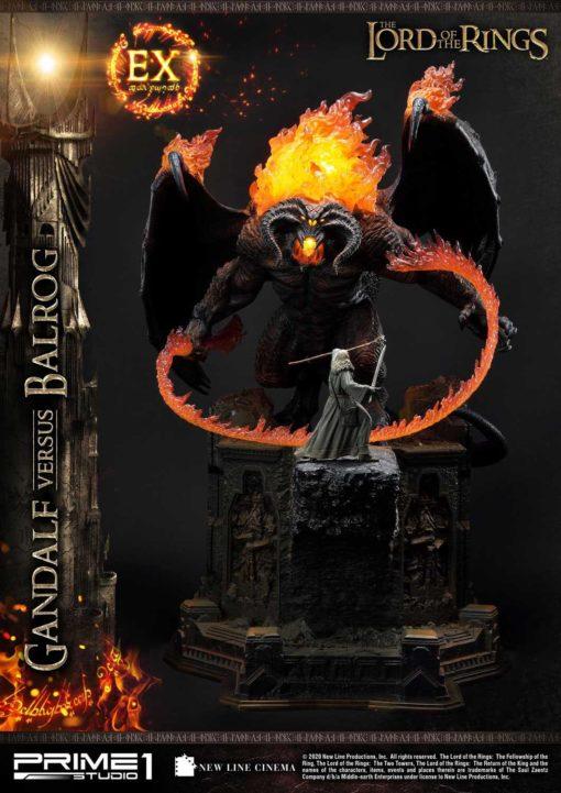Lord of the Rings Statues Gandalf Vs. Balrog & Gandalf Vs. Balrog Exclusive 79 cm Assortment (3)