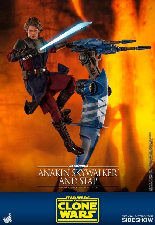Star Wars The Clone Wars Action Figure 1/6 Anakin Skywalker & STAP 31 cm
