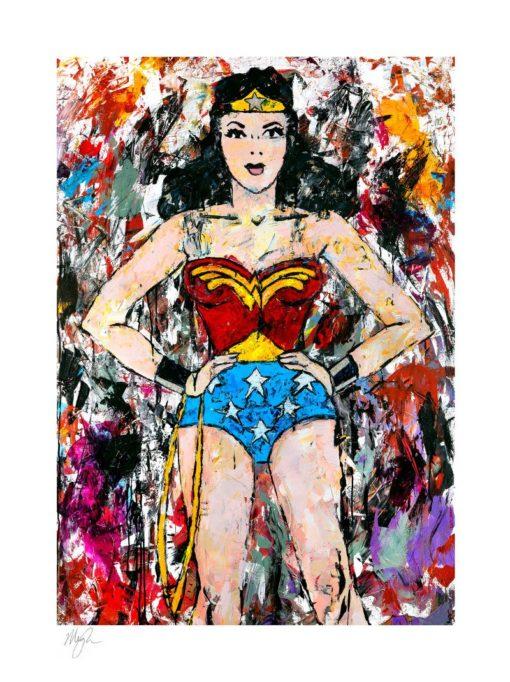 DC Comics Art Print Golden Age Wonder Woman 46 x 61 cm – unframed